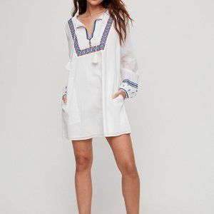 Aritzia Sunday Best Elendra Dress in Navy Blue M